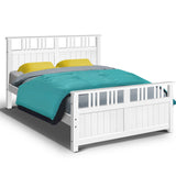 White Timber Bed Frame - Double
