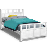 White Timber Kids Bed Frame - Single