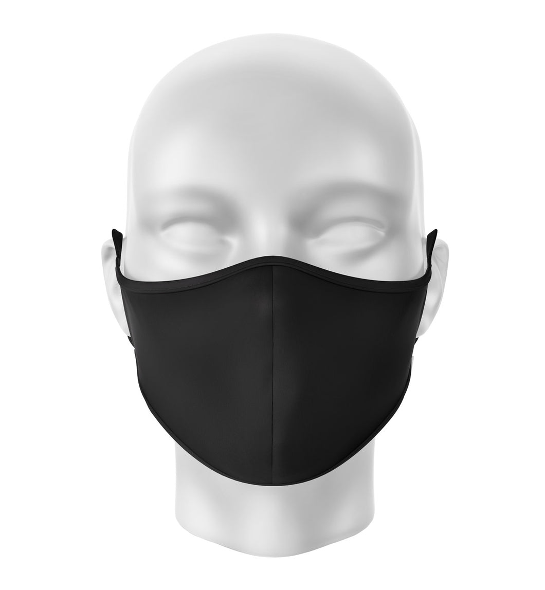 Black Adult Cloth Facial Covering (Mask)