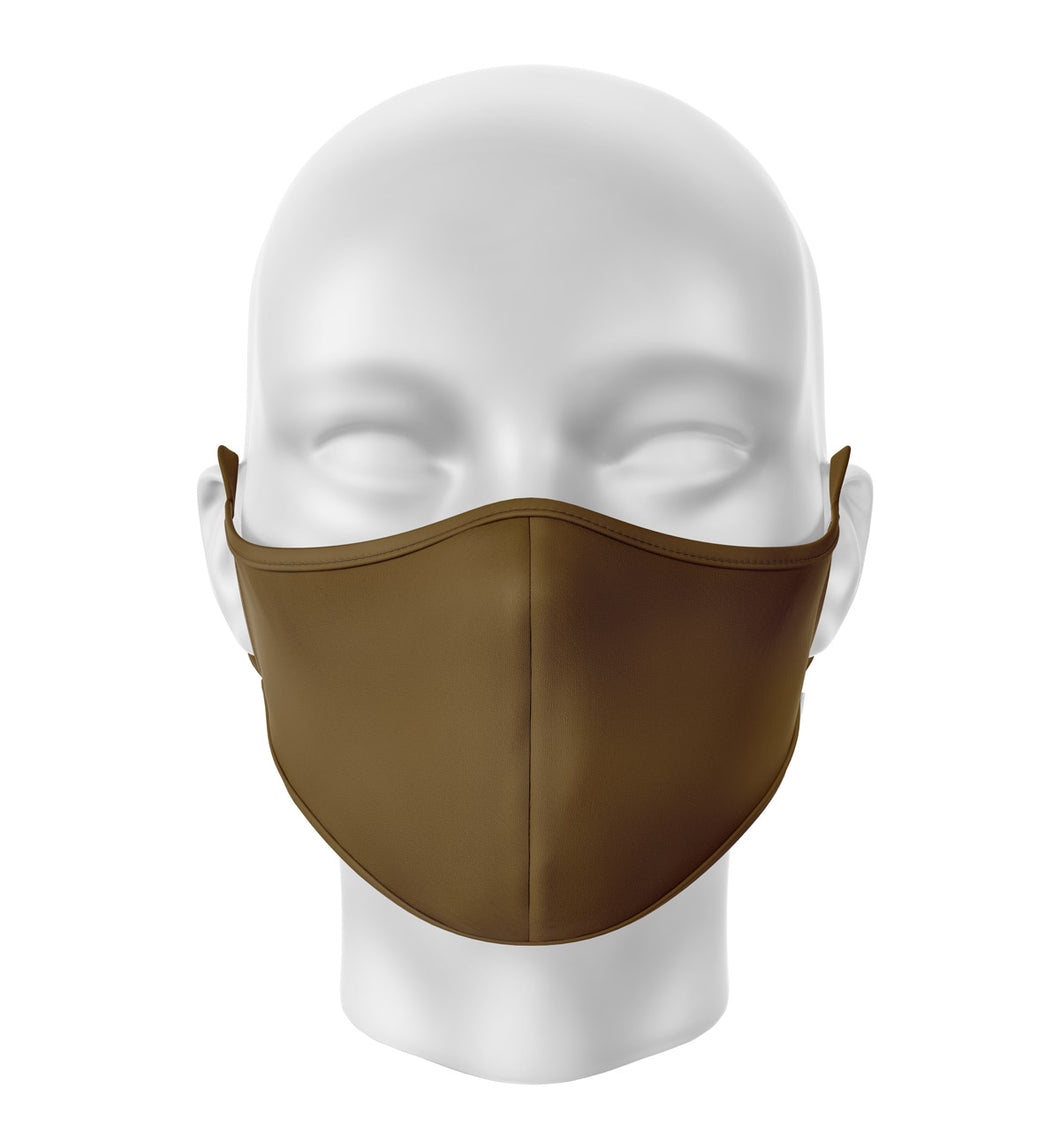 Brown Adult Cloth Facial Covering (Mask)