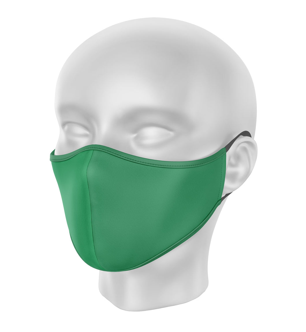 Green Children's Cloth Facial Covering (Mask)