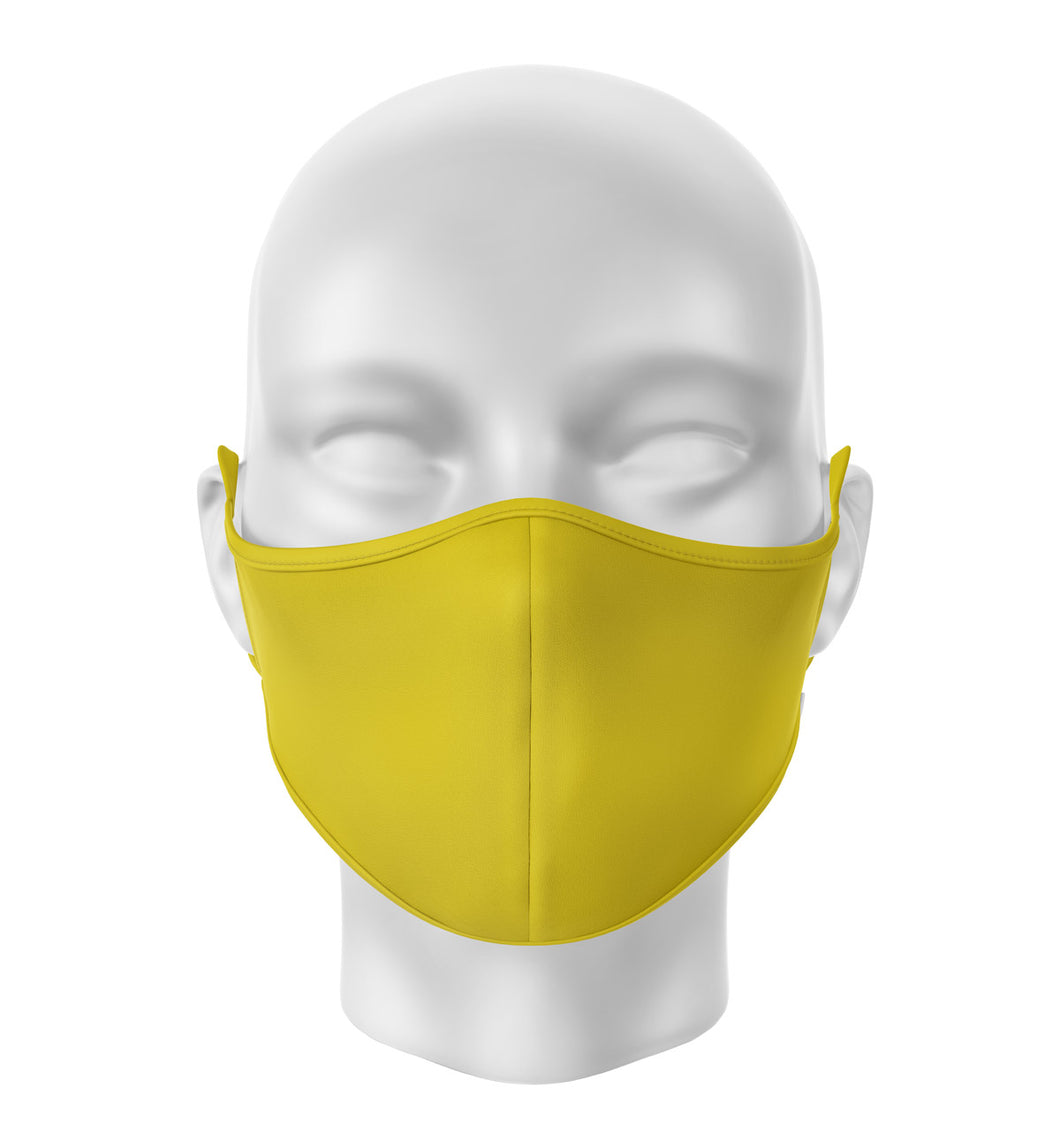 Yellow Adult Cloth Facial Covering (Mask)