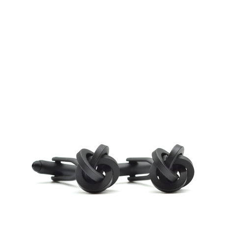 Matte Black Knot Cufflinks