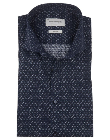 Slim Fit Shirt - Jax Navy