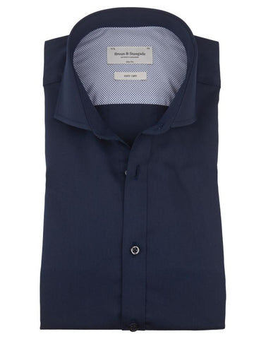 Slim Fit Shirt - Solid Navy