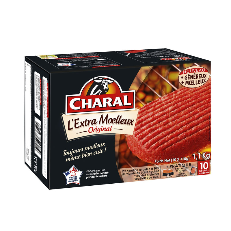 STEAK EXTRA MOELLEUX ORIGINAL (10 SACHETS) 1KG - CHARAL