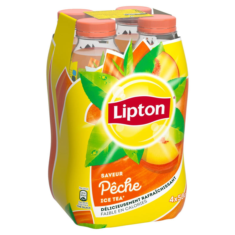 LIPTON ICE TEA 50CL PECHE X4