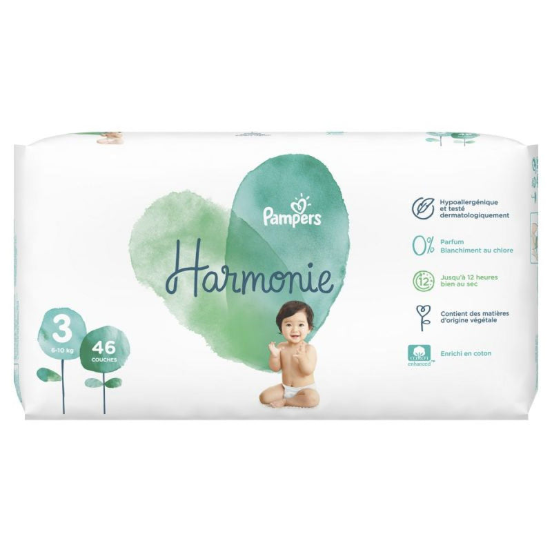 PACK x2 Pampers Harmonie T3 x46