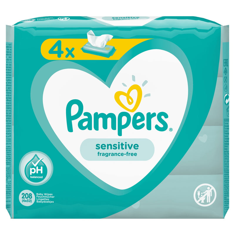 PACK 2+2 - Lingettes Pampers Fresh Clean - 208 unités au total