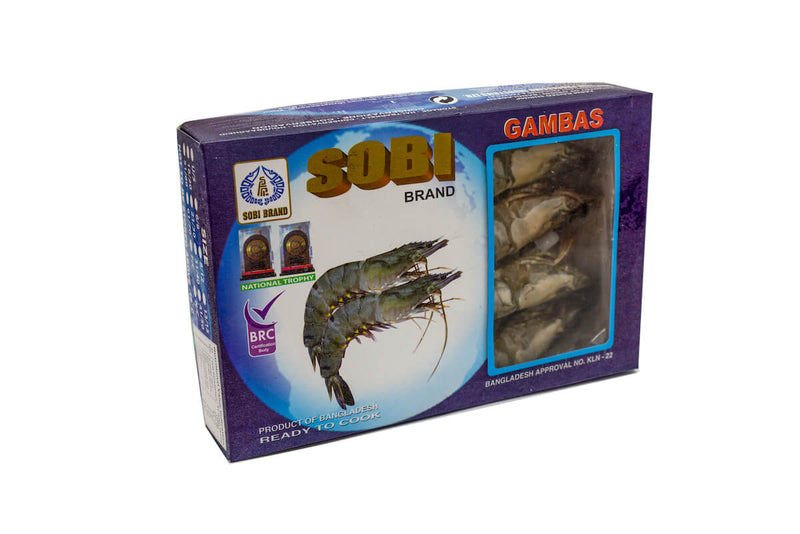 Gambas Entiere Black Tiger (Boite de 1Kg) - Seaside