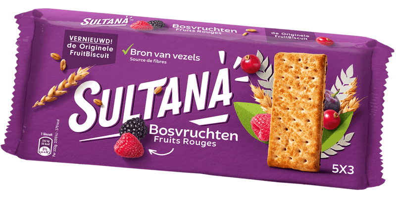 BISCUITS SULTANA FRUITS ROUGES 218G