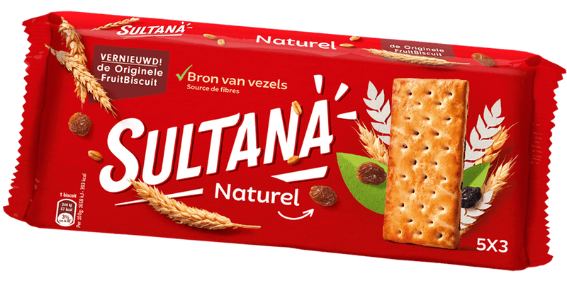 BISCUITS SULTANA FRUITS NATUREL 218G
