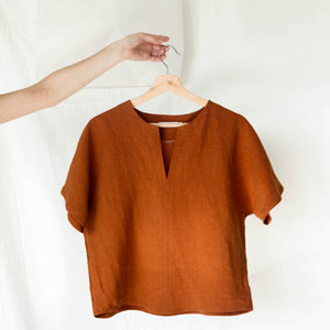Signature Linen Box Top - Rust