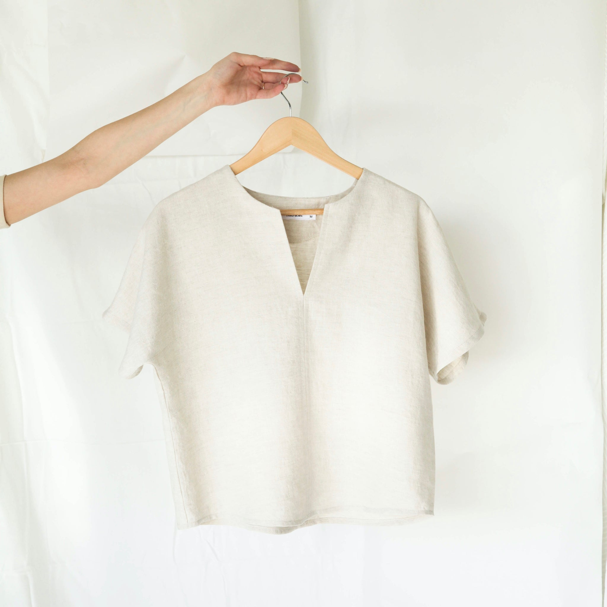 Signature Linen Box Top - Oatmeal