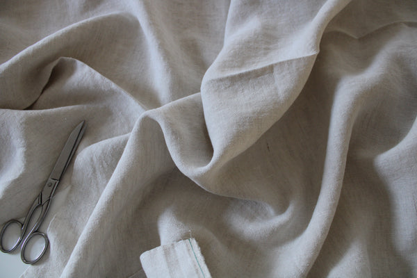 100% Antique Washed Linen - sold by the 1/4 yard - Oatmeal