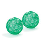 Green Textured Franklin Balls (Set of 2)