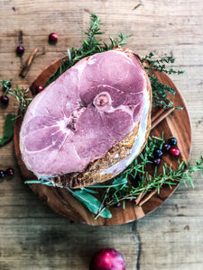 EASTER PRE-ORDER Hardwood Smoked Bone-in Half Ham (7 lbs)