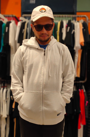VOLTAIRE VOL SJ010  SWEATER 11.300 PUTIH ZIP PUTIH