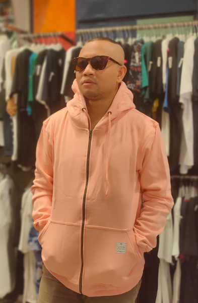 TENDENCIES 19ETND M0807001 HOODIE ZIPPER PEACH