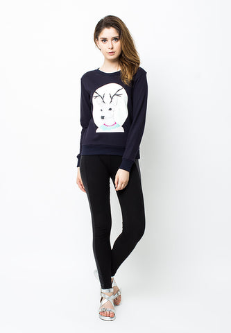 BLP-PB044/SWEATER-E-DEER-BLUEVIOLET-F