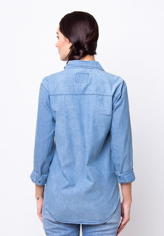 BLP-PF070/SHIRT-LS-RB-CHAMBRAY-SIERA-BLUE-F