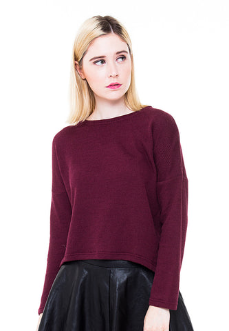 BLP-PA007/SWEATER-R-FLORENCE-MTF-MAROON-F