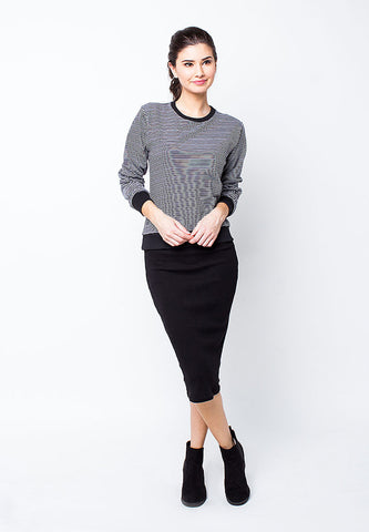 BLP-PE008/SWEATER-I-LILIAN-STRIPE-BLUEGREY-F