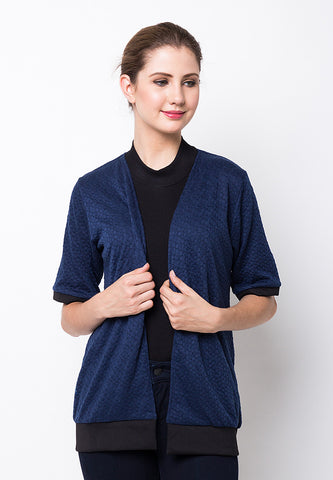 BLP-PE067/CARDIGAN-R-PIERCE-LIST-NAVY-F