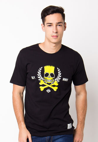 BLP-PF077/TSHIRT-WL-PIRATESBART-BLACK-M
