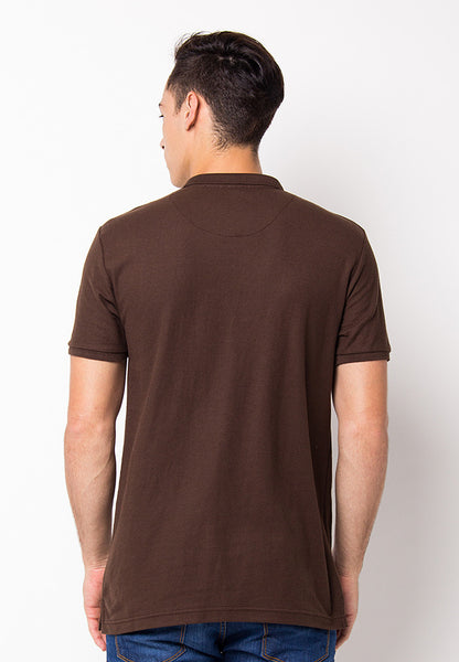BLP-PF093/POLOSHIRT-E-PL-BEE-BROWN-M
