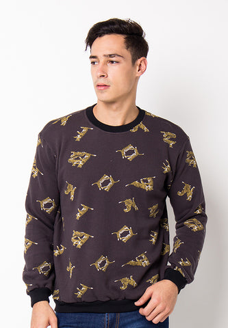 BLP-PG034/SWEATER-BN-TIGER-FP-DARKGREY-M