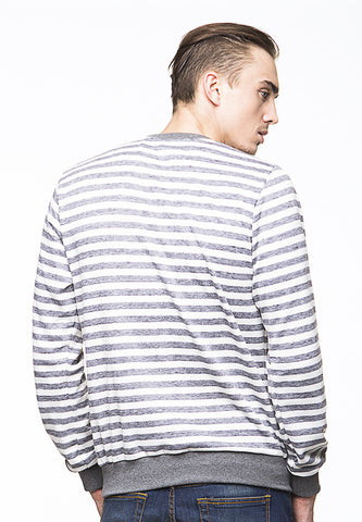 BLP-PI011/SWEATER-I-ATLAS-STRIPE-GREYWHITE-M