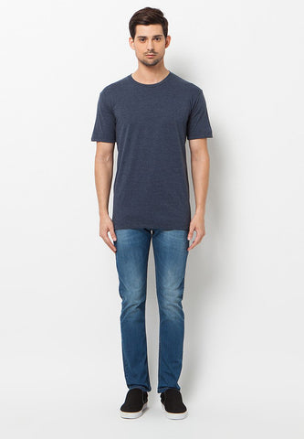 END-QL001/TSHIRT-BASIC-MISTYNAVY-M