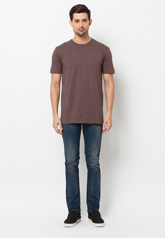 END-QL006/TSHIRT-E-BASIC-MISTYBROWN-M