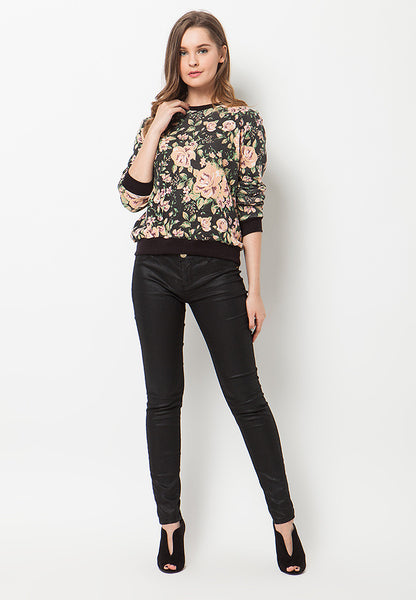 BLP-PL013/SWEATER-R-GRACE-FLOWERS-BLACK-F
