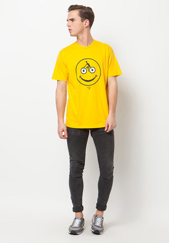 BLP-QA001/TSHIRT-WL-SMILEYCLING-YELLOW-M