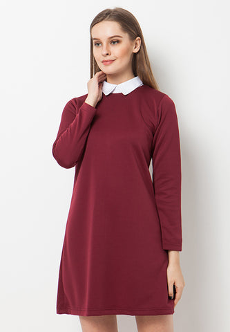 BLP-QA005/DRESS-R-SEVERINE-MAROON-F