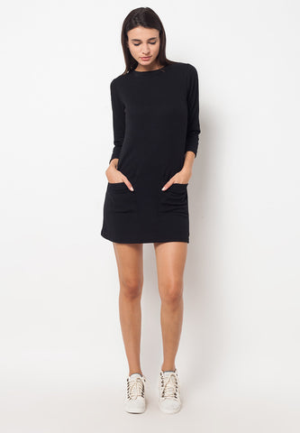 BLP-QD003/DRESS-R-ALARA-KNIT-BLACK-F