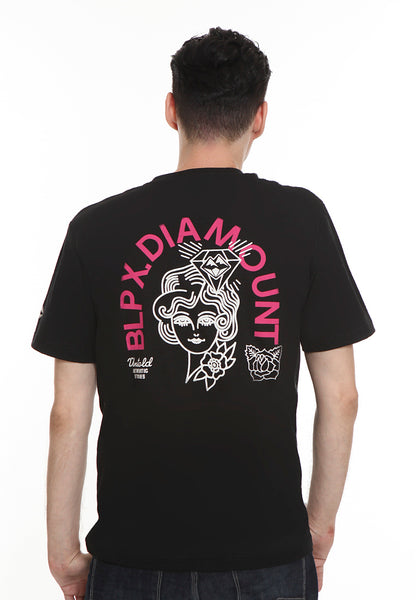 BLP-RL002/TSHIRT E DIAMOUNT GIRL BLACK M