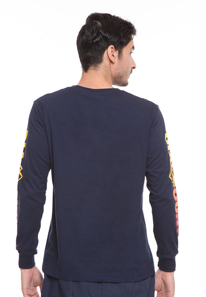 BLP-SE007 / BLOOP TSHIRT E LS GRADIENT NAVY BLUE M