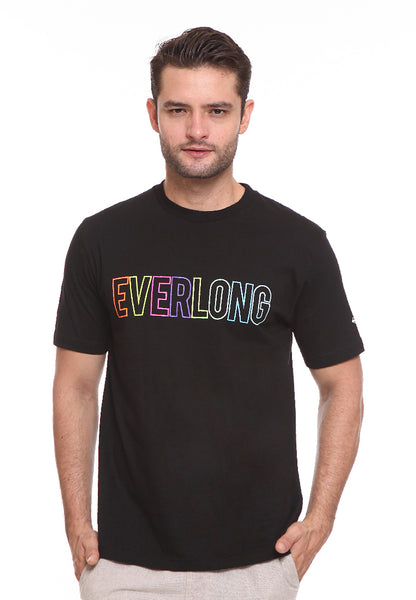 BLP-SF002/BLOOP TSHIRT EVERLONG RAINBOW BLACK M
