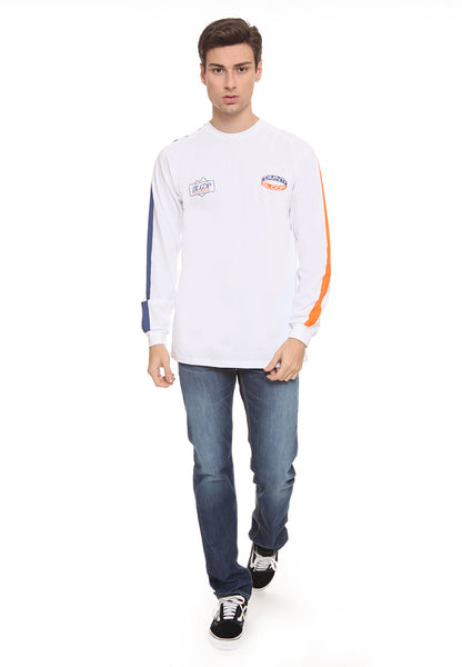 BLP-SL005 / BLOOP TSHIRT LS HD ROUNDLIST WHITE M