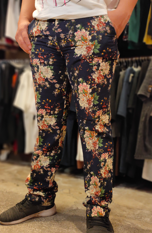 BELIEVE BLV SK010 PANTS AMR FLOWERS NAVY 071119