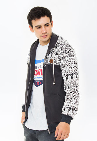 END-PA005/JACKET-I-SPORTY-LOGAN-MOTIFGREY-M
