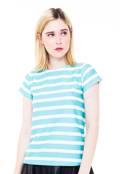 END-PA009/BLOUSE-R-NOBIE-STRIPE-WHITETURQUIS-F