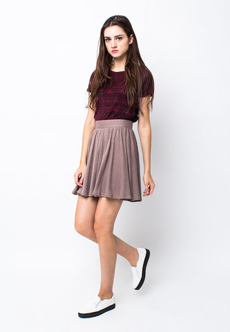 END-PA016/SKIRT-R-ISABELLE-ZPR-CHOCOLATE-F