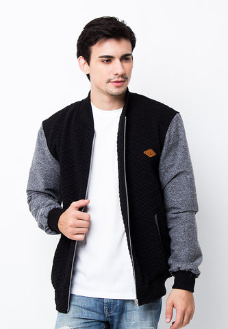 END-PA022/JACKET-I-BB-MARIO-EMBOSED-BLACK-M