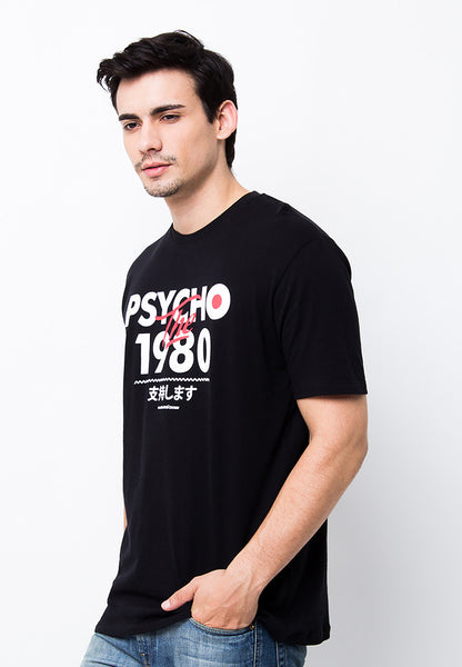 END-PA038/TSHIRT-B-PSYCHO1980-BLACK-M