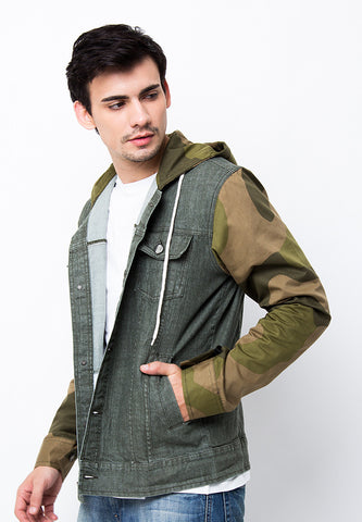 END-PA049/JACKET-I-DENIM-GRAYSON-ARMYGREEN-M