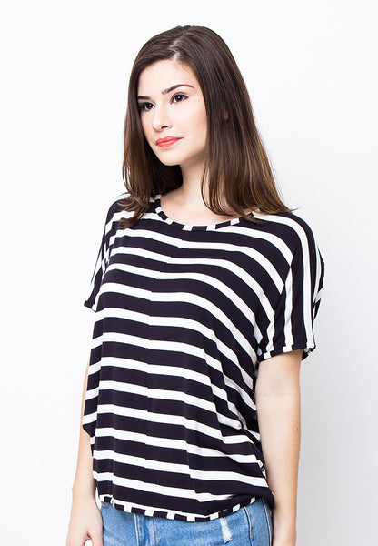 END-PB001/BLOUSE-R-ADRIANA-ST-BLACKWHITE-F